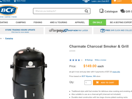 CHARMATE SMOKER + GRILL