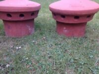 New 2 chimney pot fluevent red