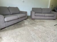 Grey dfs 3 seaters x 2 sofas, couches, furniture 🚚WE ARE STILL DELIVERING🚛