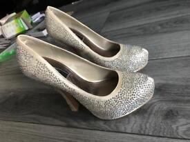 Cream Diamanté Party Heels Dorothy Perkins
