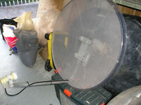 Transparent 90cm Dish and Motor