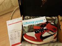 Nike Air Jordan 1 x OFF-White Chicago Red Off White UK 9.5 Authentic Authentic Delivery Available