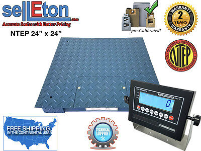 Op-916 Ntep Industrial Warehouse Floor Scale 5000 X 1 Lb 24x242x2