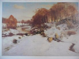 Print of snow scene