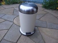 Brabantia Pedal Bin approx 10 -12 litres, cream coloured, used generally clean.