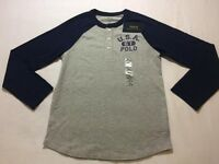 BRAND NEW Ralph Lauren 2016 Kids Boys Age 8-9 USA 1967 Polo Long Sleeve Tshirt Top ONLY £15 100sales