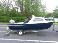 14ft day/ fishing boat and trailer