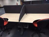 office furniture 1.2 meter desks radial