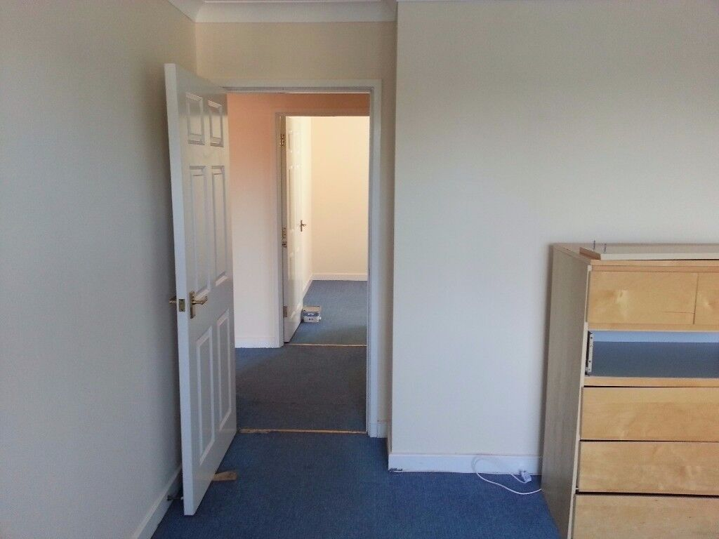 Two bedroom flat in a quiet block close to beach area available now.