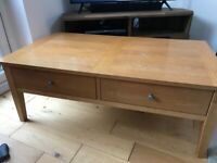 Solid wood oak Coffee Table and Lamp Table £30