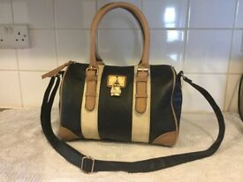 New look, black tan & cream handbag