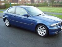 BMW 316 Ti COMPACT AUTOMATIC 3 DOOR SELLING SPARES OR REPAIRS HENCE THE PRICE 51