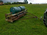 Tractor 10ft land field paddock roller has water drums on top