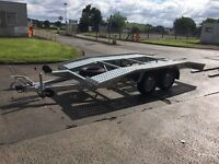 Never used, brand new recovery trailer, car transporter, German with all equipment - ready for work