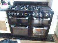 Cuisinemaster Leisure duel fuel range cooker, 110cm, 2 years old - cost £1,199 new. Must collect.