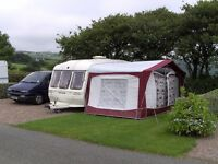 Bradcot Active Caravan Awning, size 840cm with aluminium lightweight frame and 2 x groundsheets