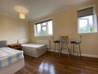 2 Weeks Deposit. Big Double/Twin room,very clean house,North Harrow,Rayners Lane.All Bills Included.