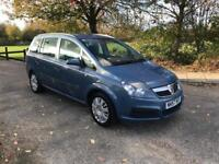 VAUXHALL ZAFIRA 1.6 2008 7 SEATER ONLY DONE 60k FROM NEW. LONG MOT.