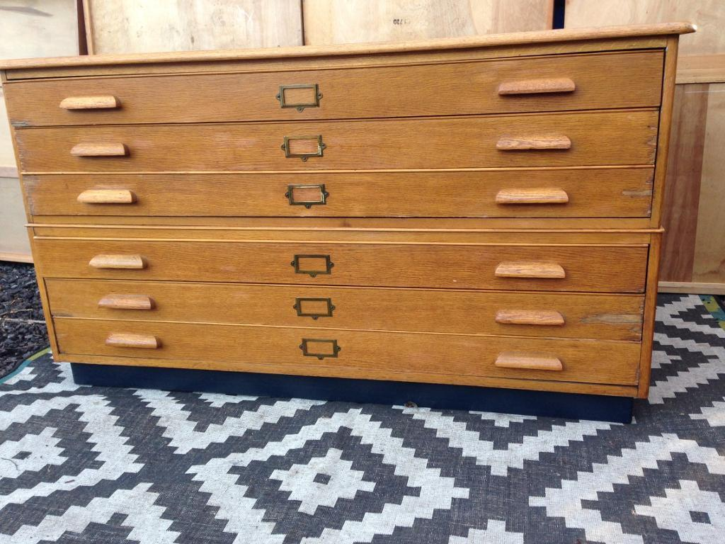 Plan Chest Map Drawers A0