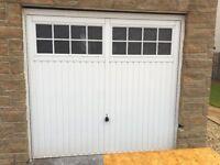2 x White Up & Over Garage Doors - Excellent Condition