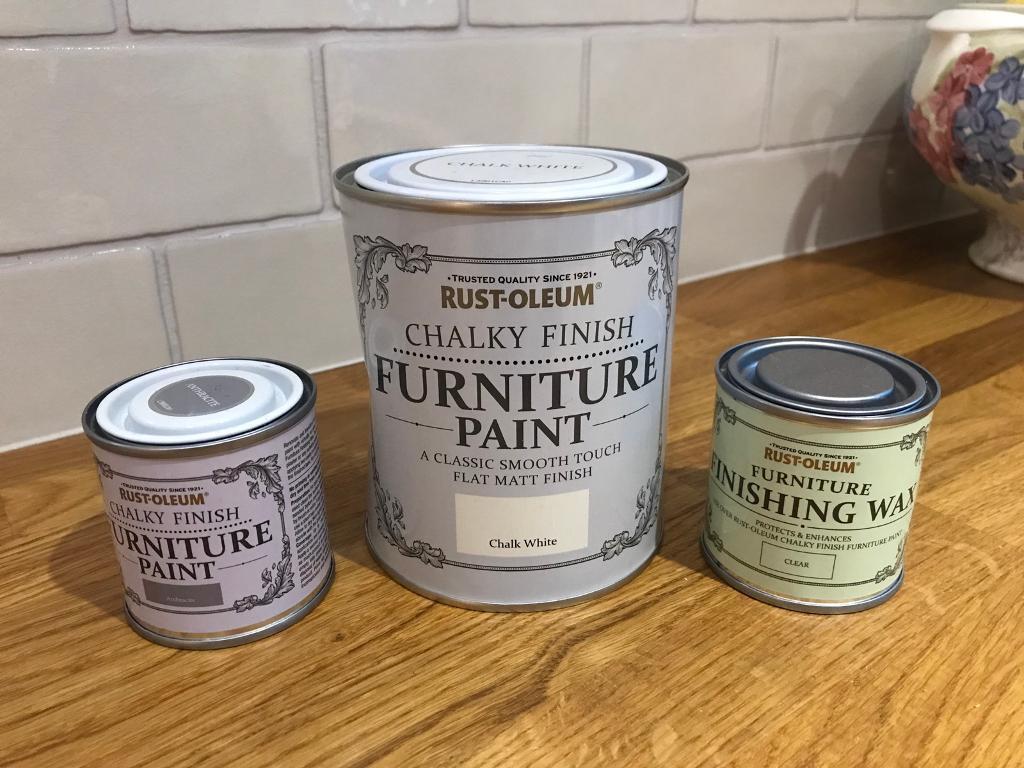 7724c6fb41ef Brand new rustoleum chalk paint white   grey and wax top coat