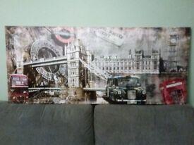 Large Iconic London Scene Canvas