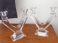 Crystal Sevres candleholders