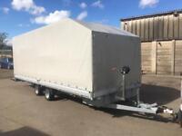 Flatbed enclosed car /cargo transporter race trailer
