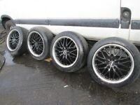 "Renault Trafic , Vivaro , Primastar Set of Four Alloys 18"" with Bolts"