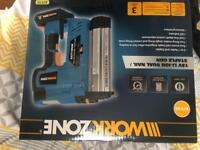 Workzone cordless nail and staple gun