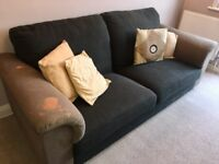 Large 2 Seater Fabric Lounge Sofa For Sale!