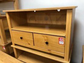 2 drawer pine TV unit