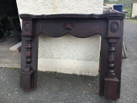 Maghogony fire surround