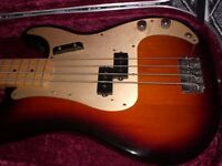 FENDER REISSUE PRECISION BASS USA THROUGH STRUNG