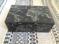 World map wooden box