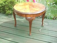 ANTIQUE BURR WALNUT COFFEE/SIDE/OCCASIONAL TABLE