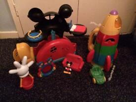 Mickey Mouse clubhouse and rocket ship