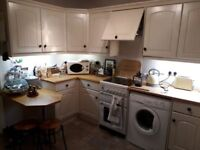 Entire Shaker kitchen with solid work work surfaces & all appliances