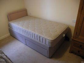 2 No Single Beds on castors as new