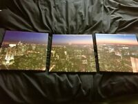3 Pictures / Panel Canvas - Triptych