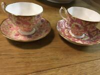 Royal Albert cup and saucer x2