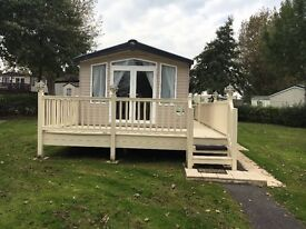 Swift Bordeaux Exclusive 2014 Caravan with Decking on Marton Mere Holiday Village Blackpool
