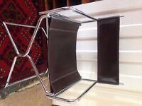 Folding director type chair, chrome metal frame.