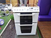 HOTPOINT CERAMIC ELECTRIC COOKER 60 CM DOUBLE