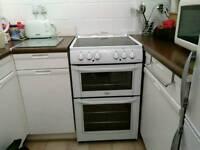 Belling freestanding ceramic hob electric cooker