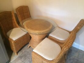 6 wicker chairs