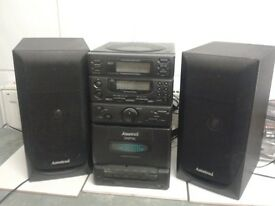Amstrad micro music system cd tape and radio with remote control exc cond