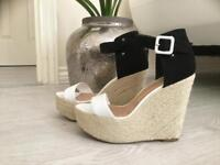 SOLD. B&W sandals size 4
