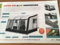 Bradcot Aspire Air 390 air-inflating caravan awning