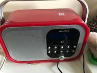 Red DAB Radio